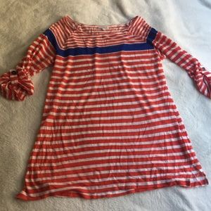 A Pea in the Pod Striped Maternity Shirt